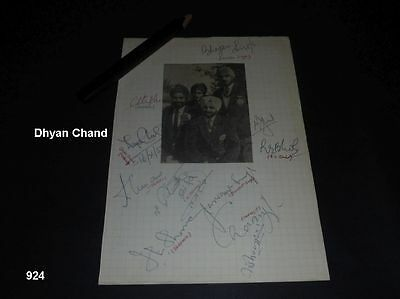 India - Holland - Hockey - Autogramm - Autograph - signed 1959 - Dhyan Chand