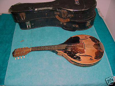 1940's Vintage Harmony Monterey Mandolin missing most of the finish  used cond.