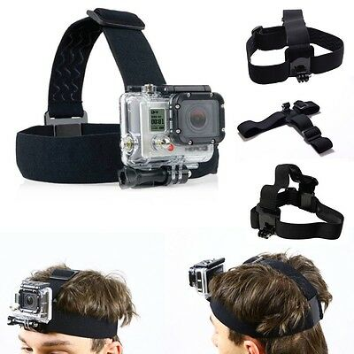 Adjustable Head Strap For GoPro Go Pro Camera 2 3 3+ 4 5 Elastic Mount Ski Hat