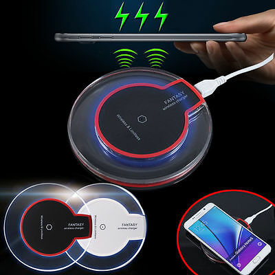 Qi Wireless Charger Charging Pad With Receiver For iPhone 7 plus Samsung S7 Edge