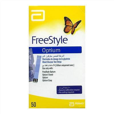 FreeStyle Optium (Optium Plus) test strips x50 - BLOOD GLUCOSE TEST STRIPS