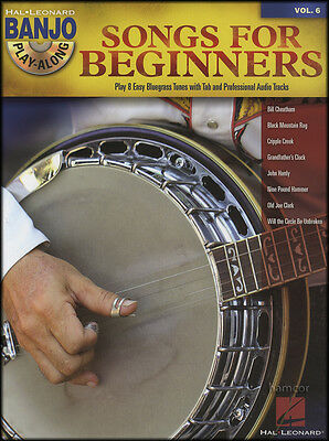 Songs for Beginners Banjo Play-Along 5-String TAB Music Book/CD