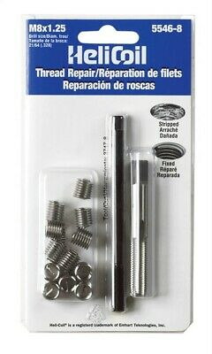 Heli-Coil Thread Repair Kit 12 Inserts Metric M 8mm X 1.25mm X 12.0mm