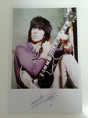 "THE ROLLING STONES - Keith Richards 6""X4"" Autograph Reproduction Glossy Picture"
