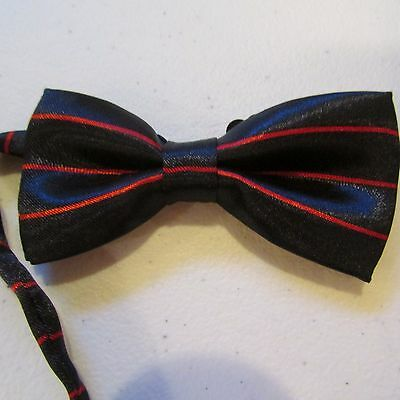 NEW Toddler Bow Tie, Adjustable, Black and Red