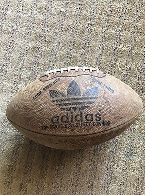 Old Rare Authentic Adidas Artillery Official Leather Football made In Canada