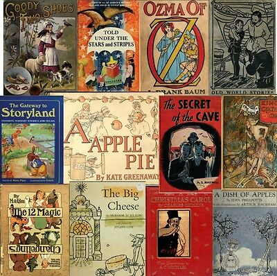 360 Vintage/old CHILDREN STORY/PICTURE books 1800's-1900's (.pdf on DVD) Vol .#2