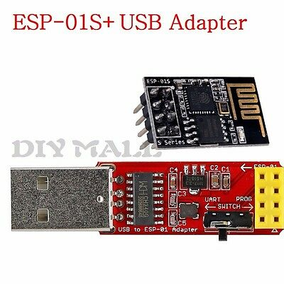 DIYmall ESP8266 ESP-01S Wireless Wifi Module+ USB Adapter With CH340G Driver