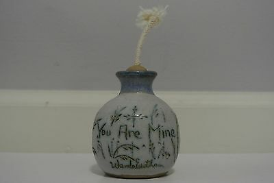 LOVELY ART POTTERY OIL LAMP Marked BUIE Dated 1989 from Gatlinburg ...