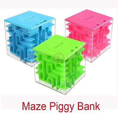 Coin Dollar Piggy Bank Money Cash Maze Magic New Gift New Puzzle Box for Kid