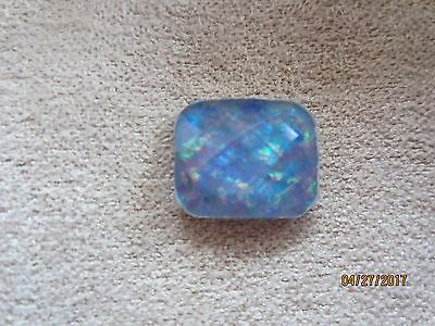 Australian Opal Triplet 12 X 10 Mm Checkerboard Cut  ~ Beautiful Stone