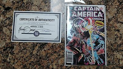 Captain America Annual #8 (1986, Marvel) Newsstand NM signed ZECK & BEATTY + COA
