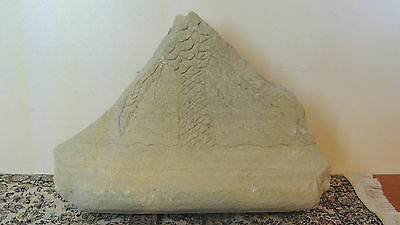 Rare  Stone Tablet Fragment Inscribed With Drawings ,palm