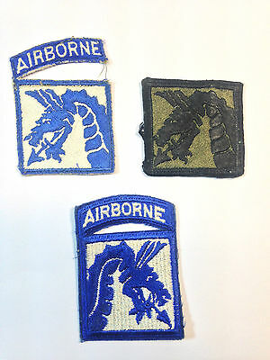 US Army 18th Airborne Patches (x3)