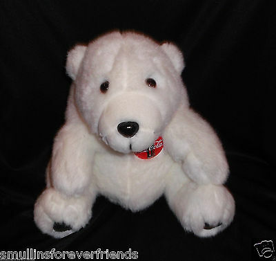 Coca Cola Coke Polar Bear Advertising  Soda Pop Boys Girls White Stuffed Plush