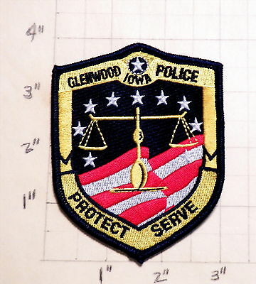 Glenwood (IA) Police Department Patch                ***NEW***