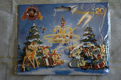 Disney Pin 92967 DLP Booster Pack Noel Christmas 2012 Bambi Stitch Thumper Chip