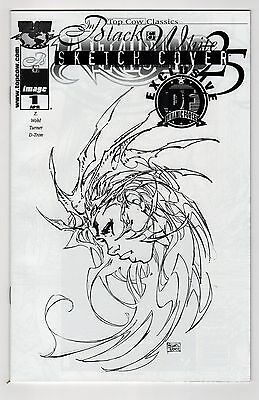 Witchblade #25 DF Exclusive Black Foil Sketch Cover Top Cow Classics B&W VARIANT