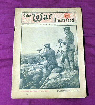 The War Illustrated No 204 Vol 8 Sun Flashed Messages In The Field 13th Jul 1918