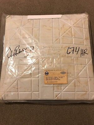 Signed ALEX RODRIGUEZ Yankees Game-Used Base Home Run #674 7/22/15! Steiner!!