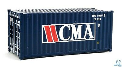 HO CMA 20' Corrugated Container - Walthers SceneMaster #949-8062 vmf121
