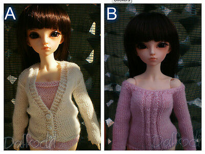 Handmade sweater or cardigan for minifee, msd, bjd of other sizes