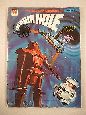 The Black Hole Coloring Book Walt Disney Productions 1979 Whitman UNUSED