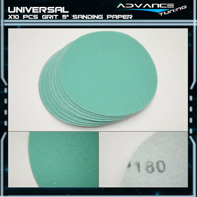 Disc 180 Grit 5 PSA Auto Sanding Paper Sheets Repair Sandpaper Magic Tape 10Pcs