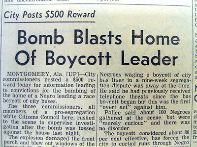 BEST 1956 Georgia segregationist newspaper MARTIN LUTHER KING 's HOME is BOMBED
