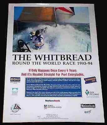 WHITBREAD ROUND THE WORLD YACHT RACE 1993-94, Fort Lauderdale SCARCE ORIG POSTER