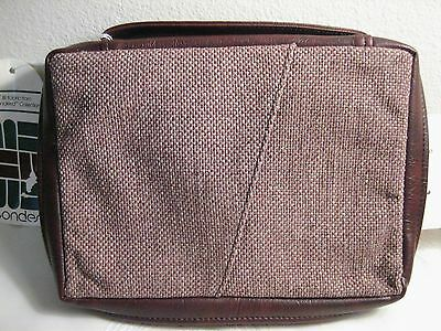 "LG Burgundy Tweed Bible Case w/ Handle & Pocket, Fits up to 10"" x 7"", NWT"