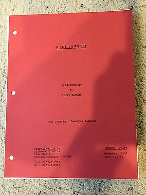 Nightbreed Movie Script Second Draft Revision February 6, 1989 Clive Barker