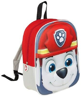 Paw Patrol Boys Character 3D Marshall Bag Backpack Kids School Rucksack