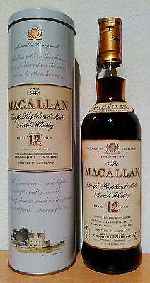 Macallan 12 Jahre Single Malt Sherry Oak Casks + Metalldose 43% / 0,7L Rarität!