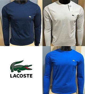 Lacoste Crew Neck Long Sleeve T-Shirt Top
