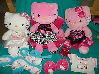 BABW Build a Bear Sanrio Hello Kitty Plush Lot of 3 with couch & clothes