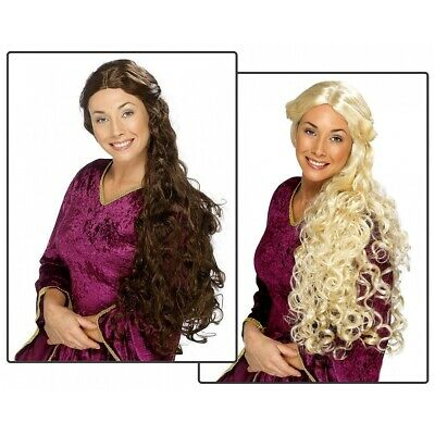 Renaissance Wig Womens Medieval Lady Game of Thrones Costume Fancy Dress