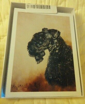 Kerry Blue Terrier dog note cards with envelopes by Ruth Maystead