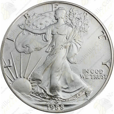 1988 1 oz American Silver Eagle – Brilliant Uncirculated – SKU #1382