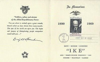 1383 6c DWIGHT D. EISENHOWER - Goodwill Ambassador sheet