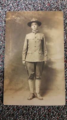 WWI Authentic Soldier Post Card
