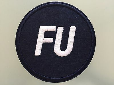 FU FRANK UNDERWOOD TV HOUSE OF CARDS PRESIDENT - Embroidered Iron On Patch 3 ""