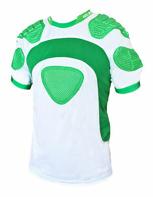 Gilbert Mercury Rugby Union Shoulder Padding White/Green - Size Medium