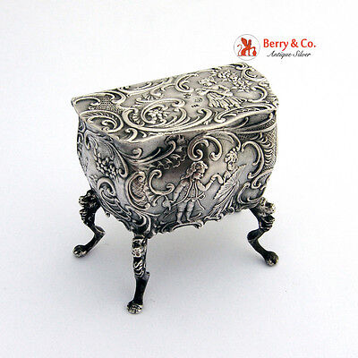 900 Silver Miniature Commode 1900