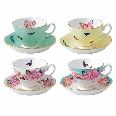 NEW Royal Albert Miranda Kerr Mixed Teacup & Saucer Set 8pce Great Price! GIFT
