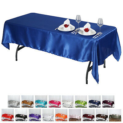 "60x102"" Rectangle Satin Tablecloth Wholesale SATIN Banquet Table Linens Cover"