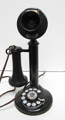Western Electric Dial Candlestick With Oak 295A Subset
