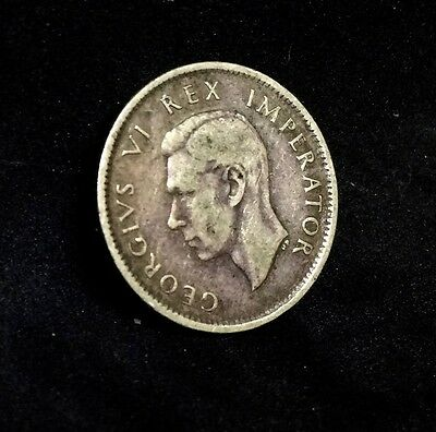 South Africa Six Pence 1938 Silver Very Fine