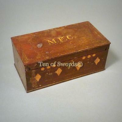 Antique Pistol Box with Shot Mold and Percussion Caps Tin
