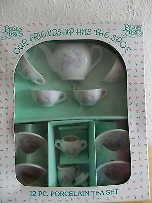 "1985 Precious Moments ""Our Friendship Hits The Spot"" 12pc. Porcelain Tea Set"